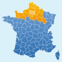 Secteurs d'intervention de Eurosign : Ile de France, Oise, Picardie, Nord – Pas de Calais, Normandie, Champagne Ardennes